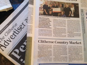 Clitheroe country market in the press
