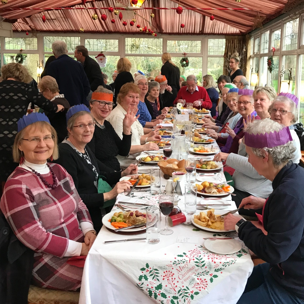 Clitheroe Country Market celebrates xmas lunch at the Calfs head at Worston